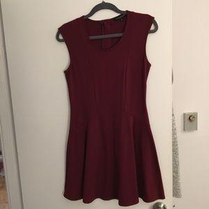 Dresses & Skirts - Maroon Drop Waist Skater Dress